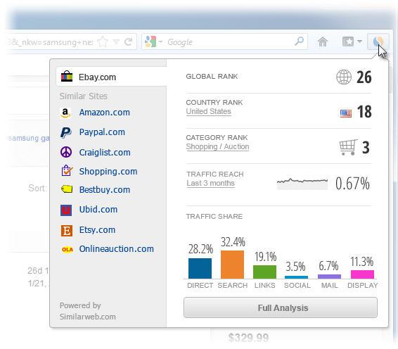 similarweb firefox add on