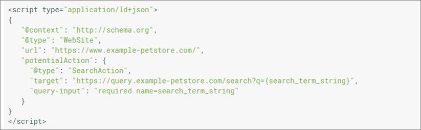 Sitelinks search box markup