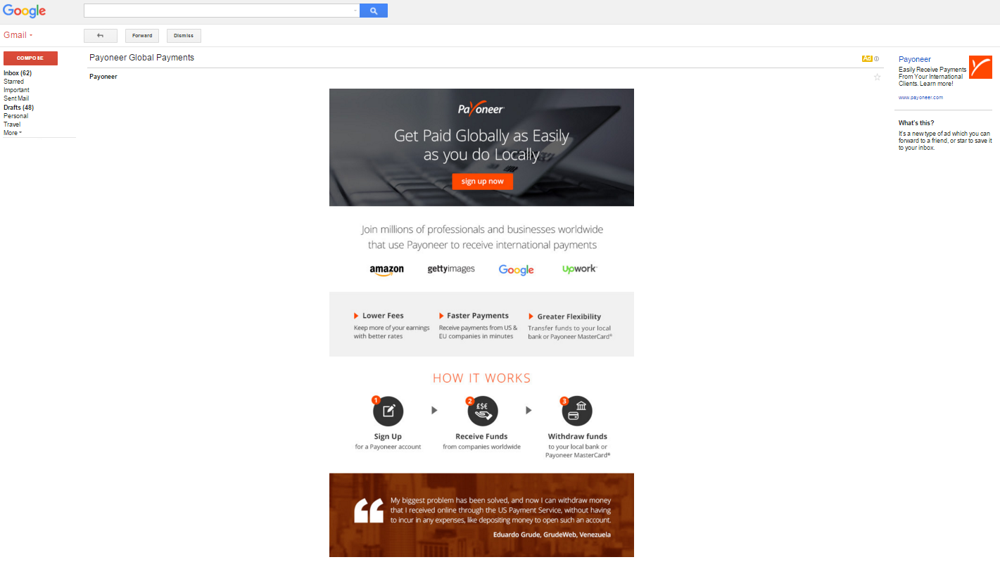 B2B Gmail Sponsored Promotion